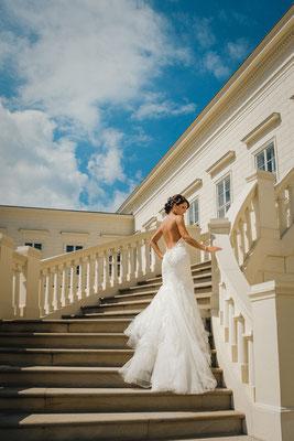 Hochzeitsfoto Braut Herrenhäuser Gärten