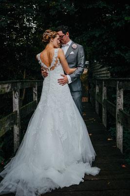 Hochzeitsfoto Brautpaar Klostersee Walsrode