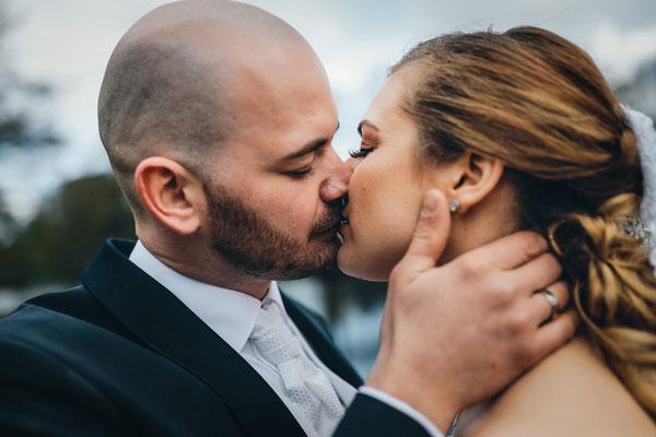 Hochzeitsfoto Brautpaar Sittensen