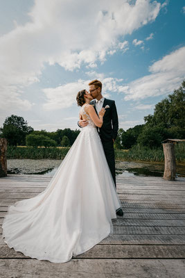 Hochzeitsfoto Brautpaar Ringhotel Forellenhof Walsrode