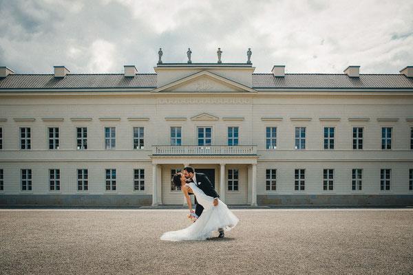 Hochzeitsfoto Herrenhäuser Gärten