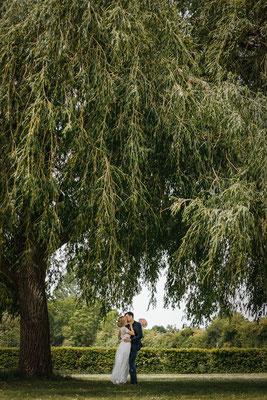 Hochzeitsfoto Brautpaar Schwarmstedt Park