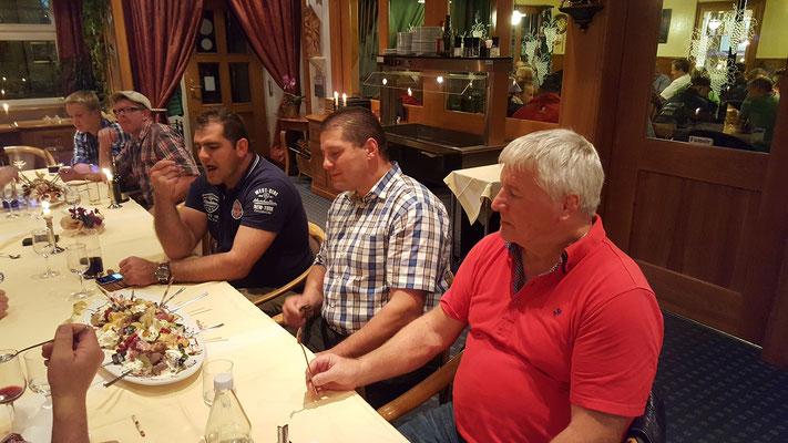 Peter Imfeld, Armin Grab, Noldi Ehrensberger v.l.n.R.