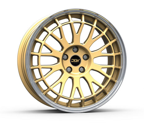 DELUXE WHEELS UNiT GOLD GLANZ AUSSENBETT POLIERT