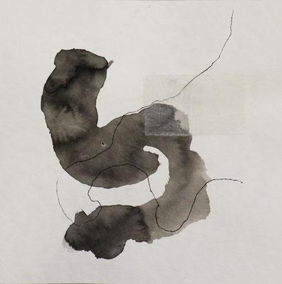 Tusche auf Papier / ink on paper 25 x 25 cm