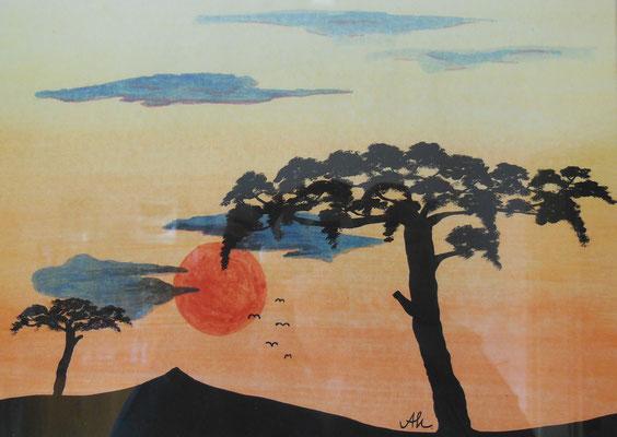"""""""Afrika I"""", 2007, Tusche auf Papier, 30x21cm    -   (c) Atelier Anne Sänger"""