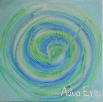 """""""Aqua Eye"""", 2013, Mischtechnik auf Leinwand, 40x40cm   -   (c) Atelier Anne Sänger"""