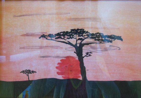 """""""Afrika II"""", 2007, Tusche auf Papier, 30x21cm    -   (c) Atelier Anne Sänger"""