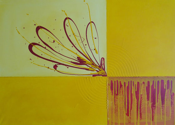 """Sommer"", 2018, Acrylfarbe auf Leinwand, 70x50cm   -   (c) Atelier Anne Sänger"
