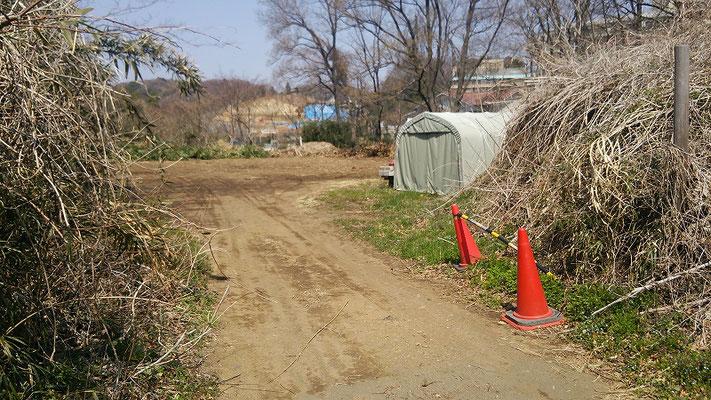 上野原遺跡の埋戻し場所