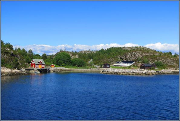 Die Häuser am Fjord