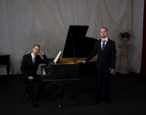 Арсений пирожков, пианист и Пётр Иванов, бас