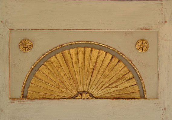 Detail der Sonne mit Blattgold