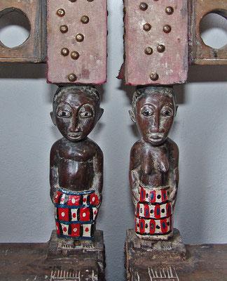 Detailansicht Stühle, Holz/Elfenbeinküste