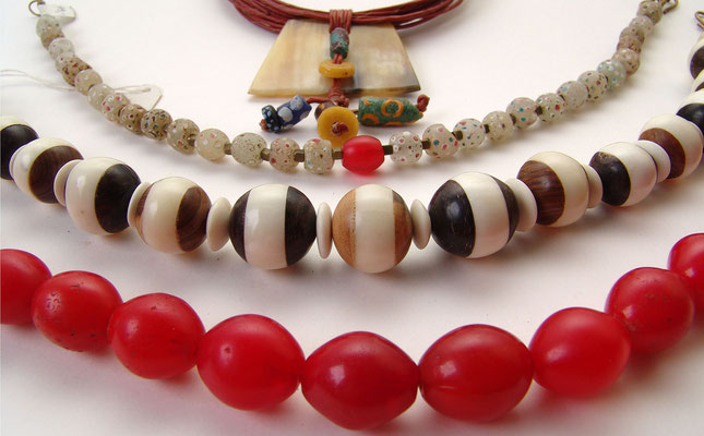 Auswahl afrikanische Perlen