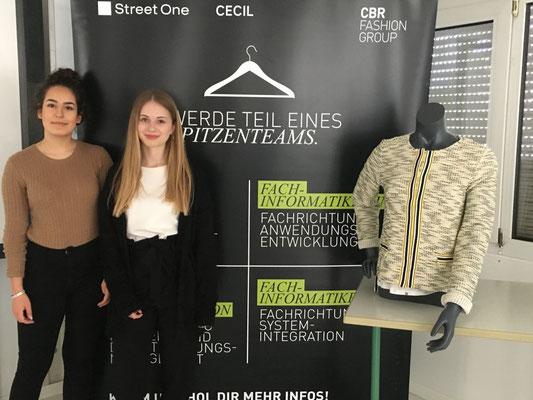 Eleni Bouchou und Jule Niestroj vom Modeunternehmen Cecil