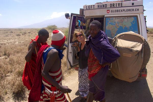 und hier haben wir sie endlich gefunden die echten Massais