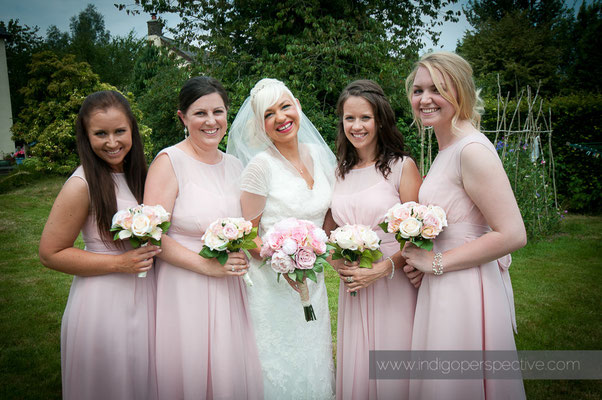 9-weirmarsh-farm-wedding-north-devon-bride-bridesmaids-portrait