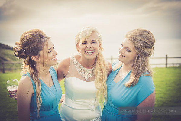 103-ocean-kave-wedding-photography-north-devon-bride-bridesmaids-smiles
