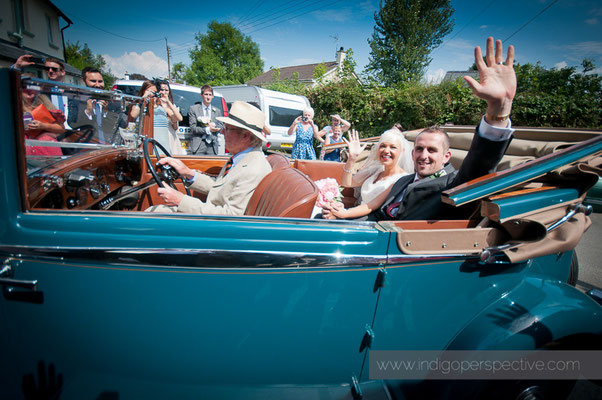 26-weirmarsh-farm-wedding-north-devon-wedding-car-exit-bride-groom