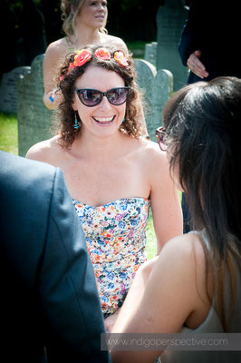 21-weirmarsh-farm-wedding-north-devon-guest-sunshine-smile