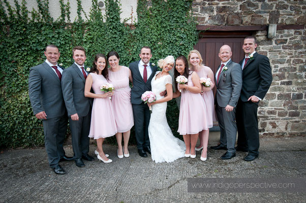35-weirmarsh-farm-wedding-north-devon-bride-groom-group-photo-bridemaids-groom-party