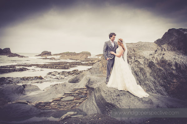 Matt & Kirsty Wedding, Tunnel's Beaches Ilfracombe. Indigo Perspective Photography