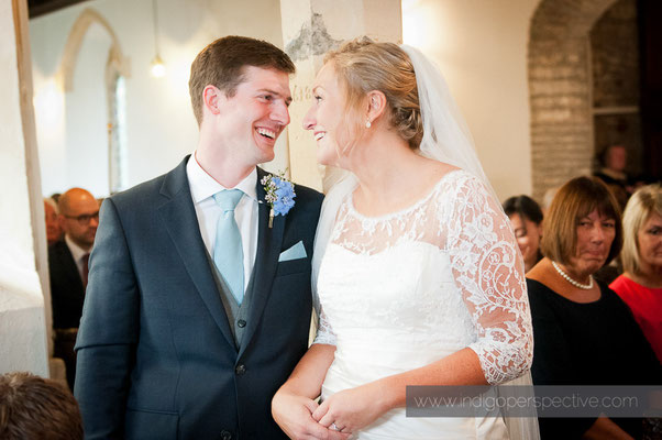 16-woolacombe-barricane-beach-wedding-north-devon-mortehoe-church-bride-groom-smile