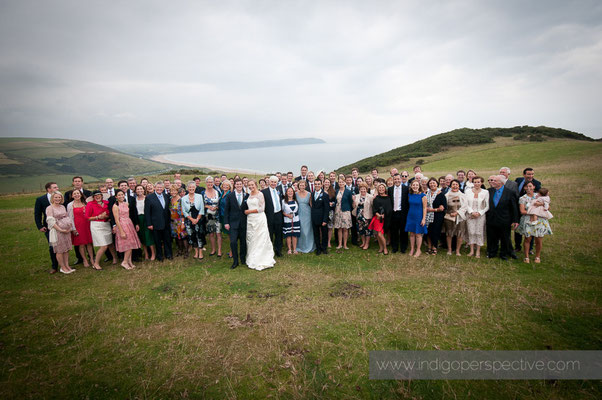 43-woolacombe-barricane-beach-wedding-north-devon-wedding-party-cliff-sea-group