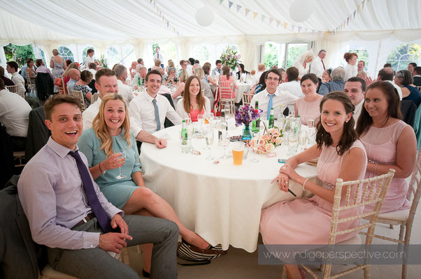 43-weirmarsh-farm-wedding-north-devon-informal-table-group-photo