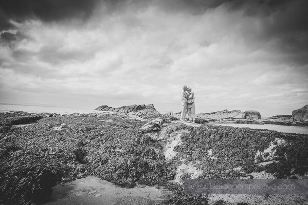 Rachael & Katrina's Wedding at Tunnels Beaches Ilfracombe. Indigo Perspective Photography