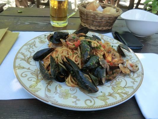 Spagetti mit Meeresfrüchte