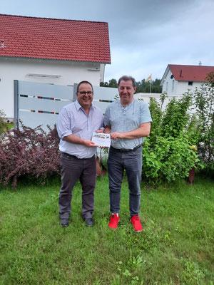 Beisitzer Paul Löffler mit Michael Fischer