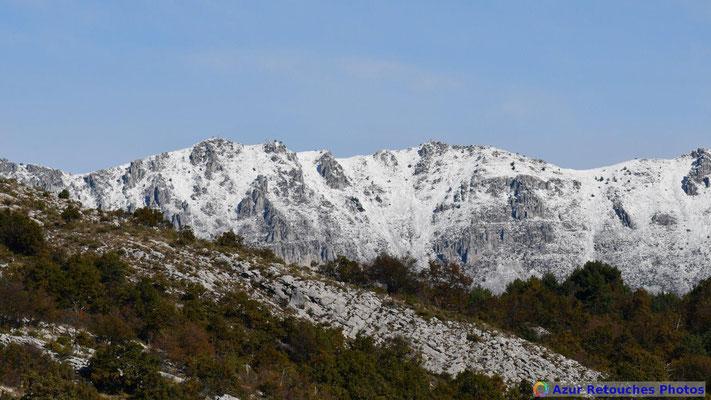 Première neige sur le Cheiron