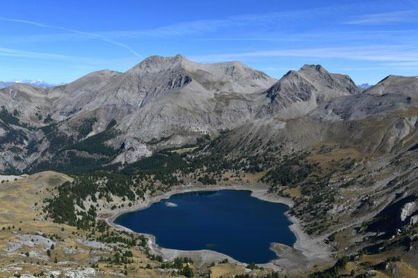 Lac d'Allos et Mont Pelat