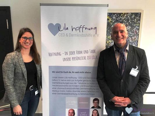 Eva und Holger referieren zum Thema chronisch entzündliche Darmerkrankungen