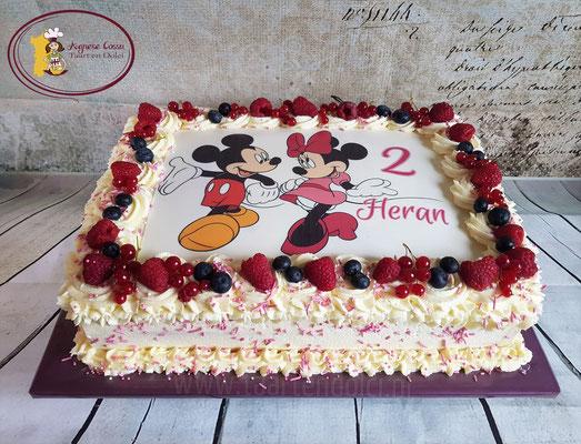 Slagroom taart voor 30 personen en print