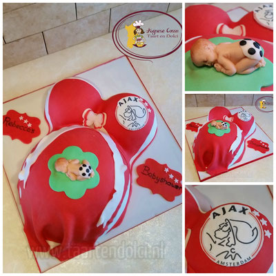 Ajax babyshower taart