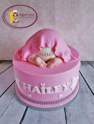 Babyshower taart babybillen