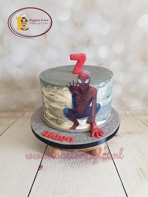Spiderman taart zonder fondant