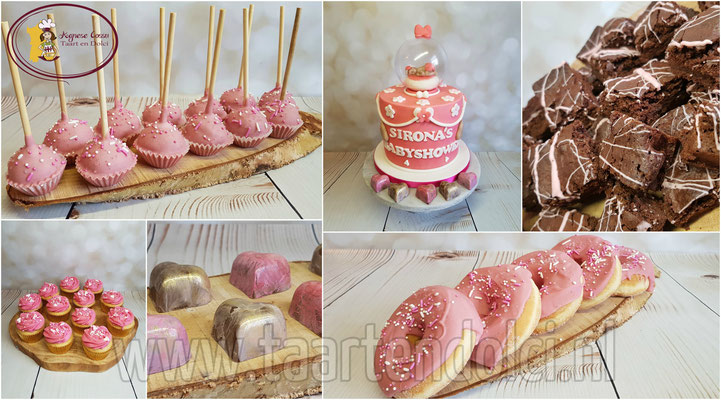 Sweettable babyshower meisje