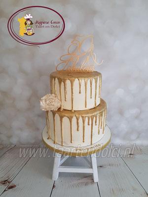 Gouden dripcake