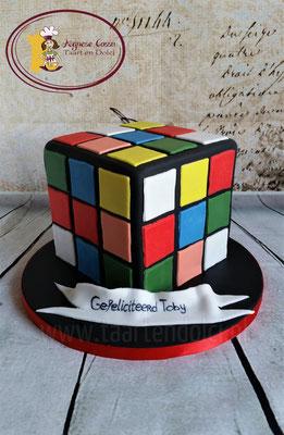 Rubikscube taart