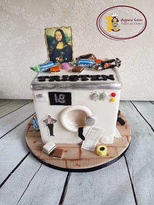Wasmachine taart