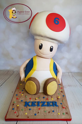 3D Toad taart
