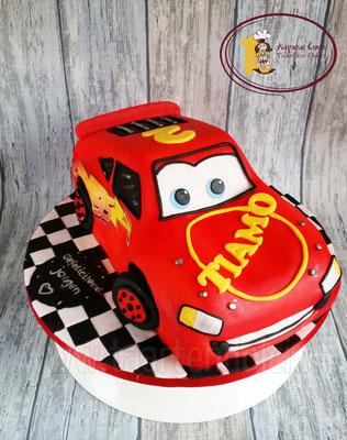 Lightning McQueen taart 3D