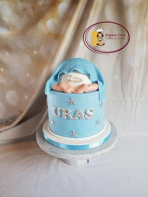 Babybillen taart voor babyshower