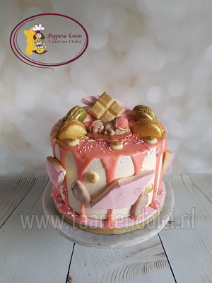 Babyshower meisje dripcake
