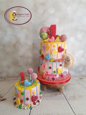 Dripcake kleurrijk