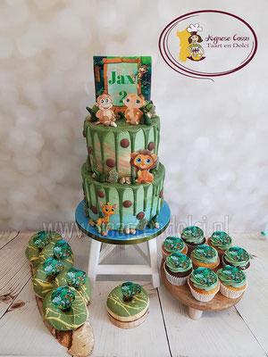 Jungle dripcake en sweettable